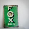 Fox pils metalen bordje