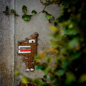 Mozaiek Invader Dendermonde Knaptand
